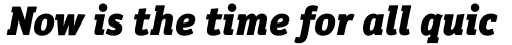 Officina Serif Std Black Italic sample