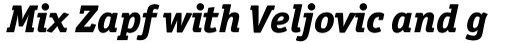 Officina Serif Std ExtraBold Italic sample