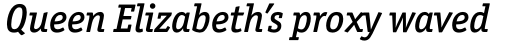 Officina Serif Std Medium Italic sample