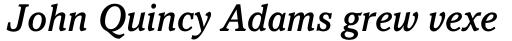 Pacella Std Medium Italic sample