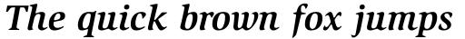 ITC Slimbach Std Bold Italic sample