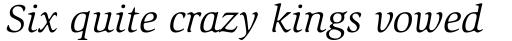 ITC Slimbach Std Book Italic sample