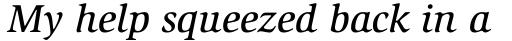 ITC Slimbach Std Medium Italic sample