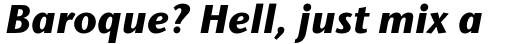 Stone Humanist Std Bold Italic sample