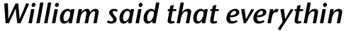 Stone Humanist Std SemiBold Italic sample