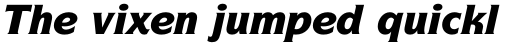 ITC Symbol Std Black Italic sample