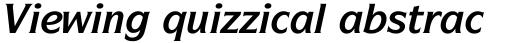 ITC Symbol Std Bold Italic sample