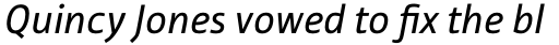 Tabula Pro Book Italic sample