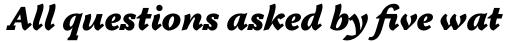 Tactile Std Ultra Italic sample