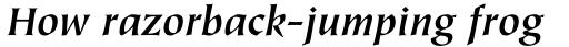 Tiepolo Std Bold Italic sample