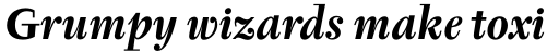 Tyfa Pro Bold Italic sample