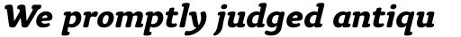 Tyke Std Bold Italic sample