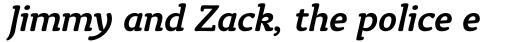 Tyke Std Medium Italic sample