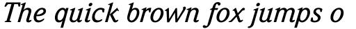 Weidemann Std Medium Italic sample