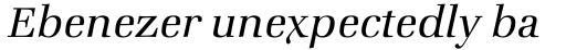 ITC Zapf Book Std Light Italic sample