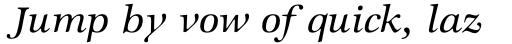 ITC Zapf International Std Medium Italic sample