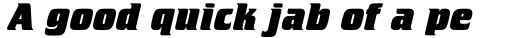 Crillee Std ExtraBold Italic sample
