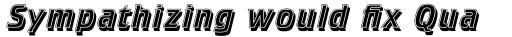 Crillee Std Italic Inline Shadow sample