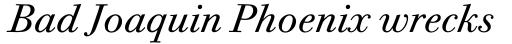 Bodoni Twelve Pro Book Italic sample