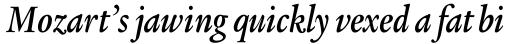Legacy Serif Pro Bold Condensed Italic sample