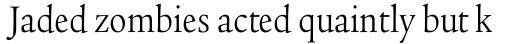 Legacy Serif Pro Book Condensed sample