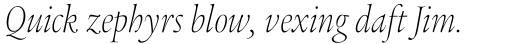 Legacy Serif Pro ExtraLight Condensed Italic sample