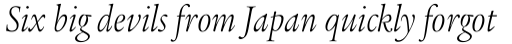 Legacy Serif Pro Light Condensed Italic sample