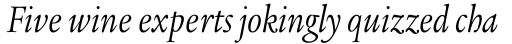 Legacy Serif Std Book Condensed Italic sample
