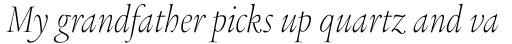 Legacy Serif Std ExtraLight Condensed Italic sample