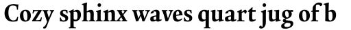 Legacy Serif Std Ultra Condensed sample