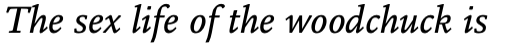 Legacy Square Serif Pro Medium Italic sample