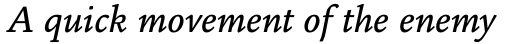 Legacy Square Serif Std Medium Italic sample