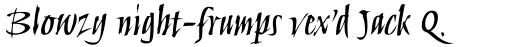 Humana Script Pro Medium sample