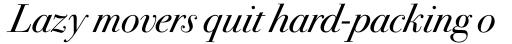 ITC Bodoni Seventytwo Pro Book Italic sample