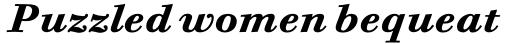 Bodoni Six Pro Bold Italic sample