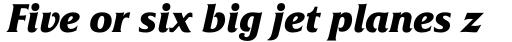Friz Quadrata Pro Bold Italic sample