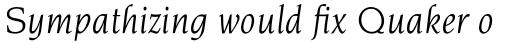 Novarese Pro Book Italic sample