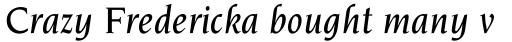 Novarese Pro Medium Italic sample