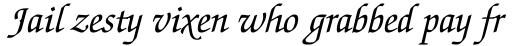 ITC Zapf Chancery Pro Italic sample