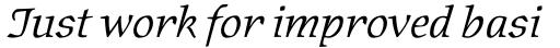 Oldrichium Pro Light Italic sample