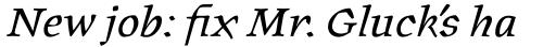 Oldrichium Pro Italic sample