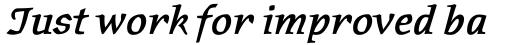 Oldrichium Pro Demi Italic sample