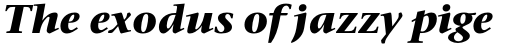 Stone Serif Pro Bold Italic sample