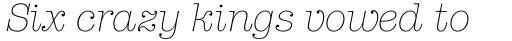 American Typewriter Pro Light Italic sample