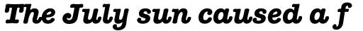 American Typewriter Pro Bold Italic sample