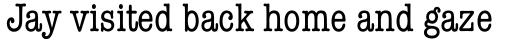 American Typewriter Pro Condensed sample