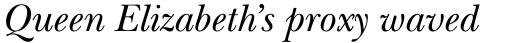 ITC New Baskerville Pro Italic sample