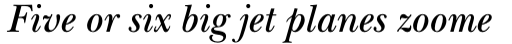 ITC New Baskerville Pro SemiBold Italic sample