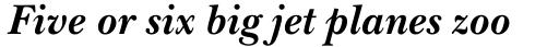 ITC New Baskerville Pro Bold Italic sample