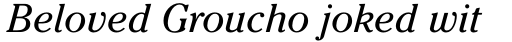 ITC Cheltenham Pro Book Italic sample
